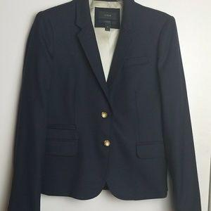 J CREW Womans Schoolboy Wool Blazer